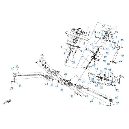 Рулевое управление (eps) для CFMOTO Z10 EFI&EPS