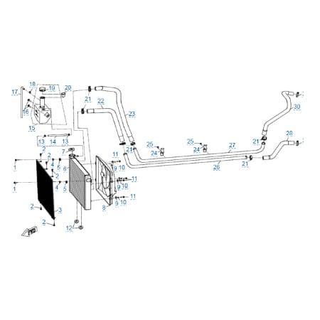 Система охлаждения двигателя для CFMOTO U10 EPS