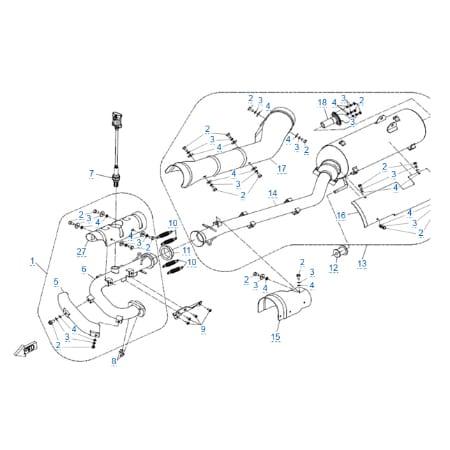 Система выпуска для CFMOTO X4 EFI&EPS