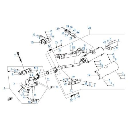 Система выпуска для CFMOTO X6 EPS