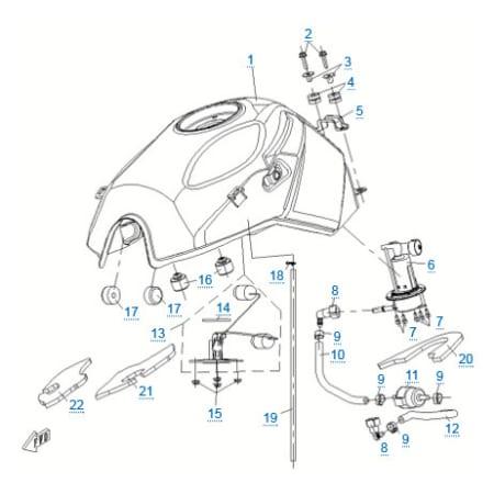 Кольцо улотнительное датчика уровня топлива