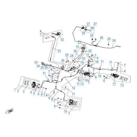 Тормозная система 1 для CFMOTO X10 EPS