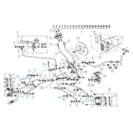 Тормозная система для CFMOTO X4 EFI&EPS