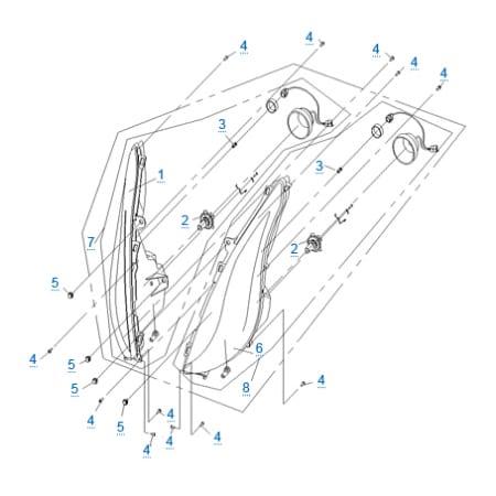 Внешние световые приборы 1 для CFMOTO 250 JETMAX