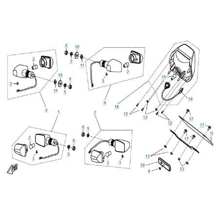 Внешние световые приборы 2 для CFMOTO 150-C Leader
