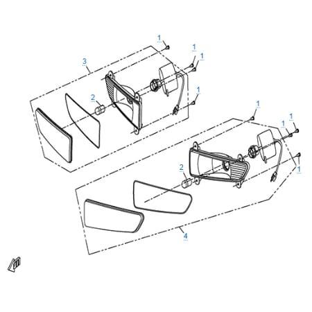 Внешние световые приборы 2 для CF500-3