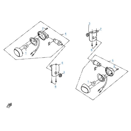 Внешние световые приборы 3 для CFMOTO X5 Basic