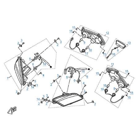 Внешние световые приборы для CFMOTO Z8 EFI&EPS