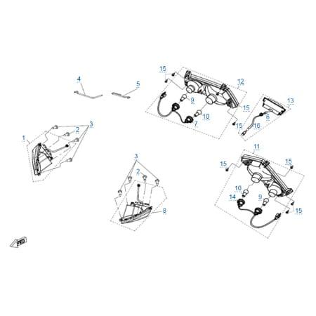 Внешние световые приборы restyle для CFMOTO X8 Basic