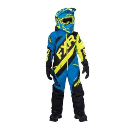 FXR cx child black blue hi-vis