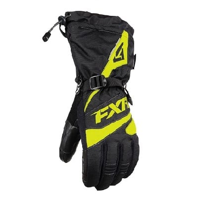 Перчатки FXR Fuel с утеплителем black/hi vis