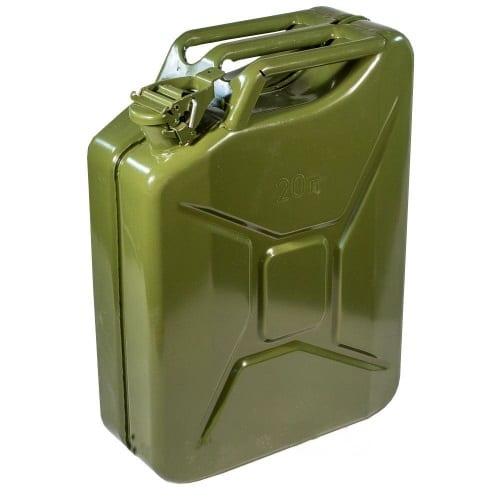 Канистра топливная  металлическая вертикальная 20л. (зеленая) AVS VJM -20
