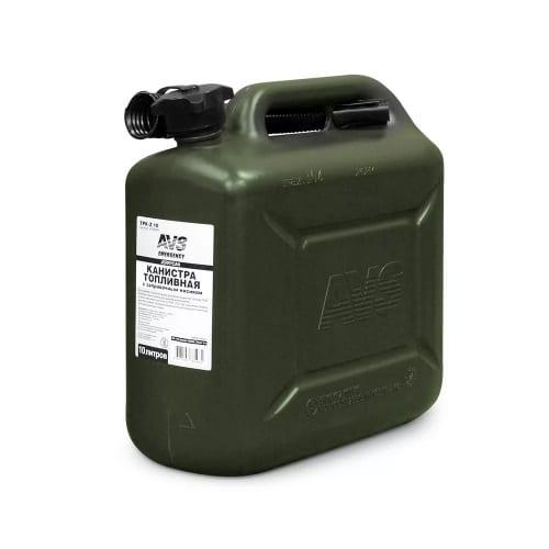 Канистра топливная пластик 10л.( темн зелен) AVS TPK-Z10