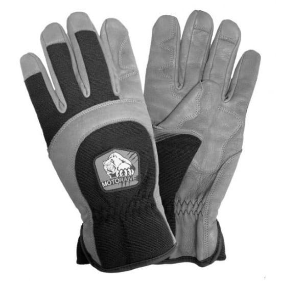 Motoraive перчатки HARD кожа/неопрен/спандекс, цвет серый/черный