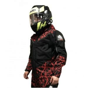 Куртка Motoraive RED NET,(XXL) цвет сер/крас/черн, с защитой, материал мембрана 31405