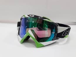 Очки кроссовые NENKI 1019 Mirror (Green/Black) зеркальная линза N1019_mr