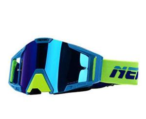 Очки кроссовые NENKI 1025 Mirror (Mat Blue) зеркальная линза N1025_MB_Mr
