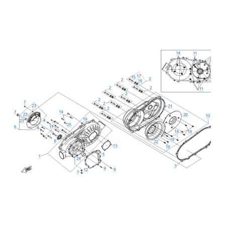 Корпус вариатора двигателя 191S