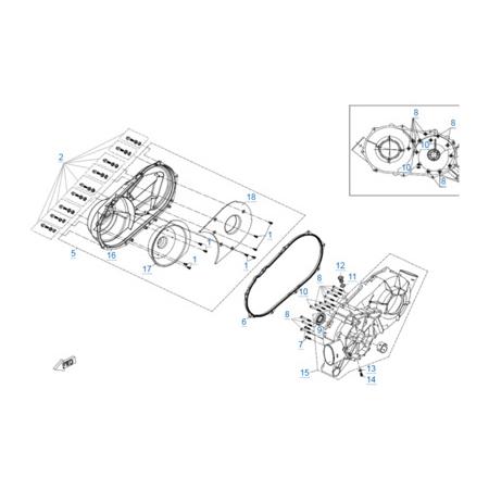 Корпус вариатора двигателя 2V91W-A