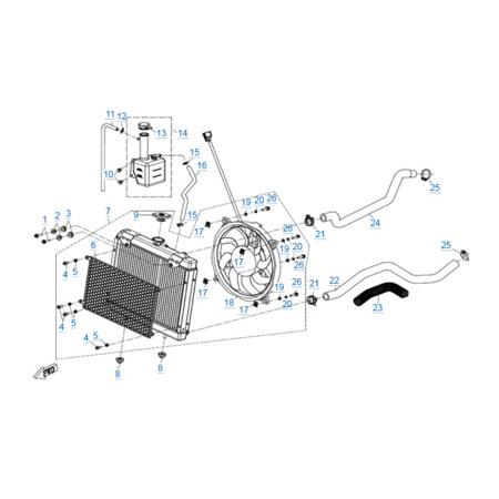 Система охлаждения двигателя для CFORCE 600 EPS