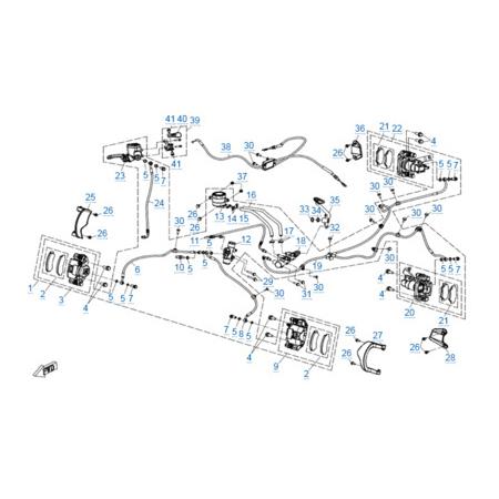 Тормозная система для CFORCE 600 EPS
