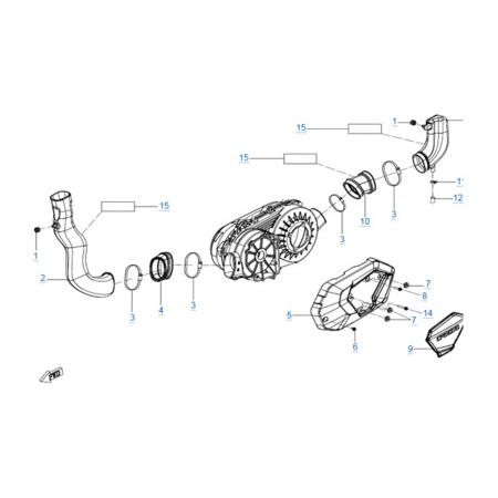 Трубки системы вентиляции вариатора для CFORCE 600 EPS