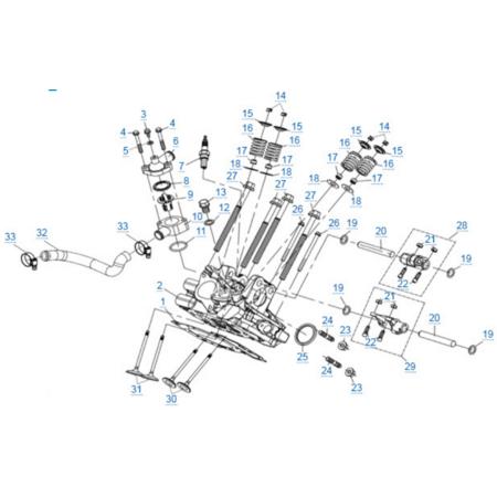 Головка цилиндра 2 двигателя 2V91Y (ZFORCE 1000 Sport)