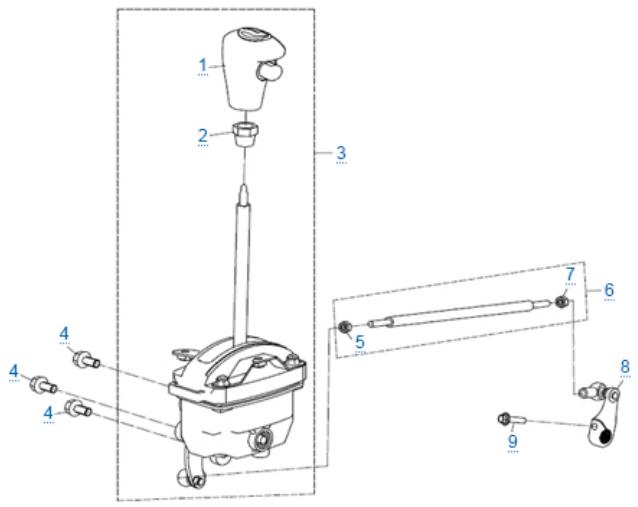 Механизм переключения передач для ZFORCE 1000 SPORT EPS