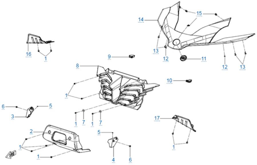 Пластиковые детали 1 для ZFORCE 1000 SPORT EPS