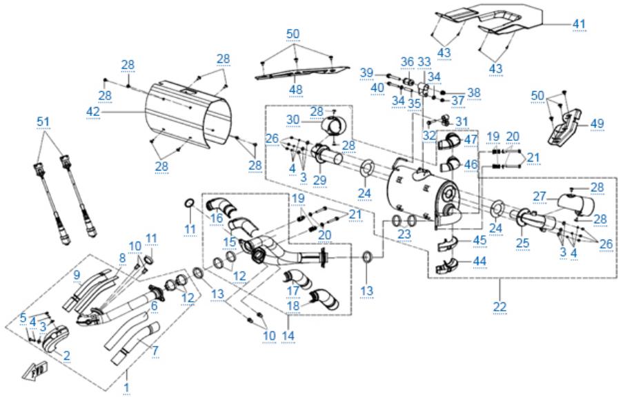 Система выпуска для ZFORCE 1000 SPORT EPS